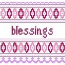 "6042 Blessings Needlepoint Canvas 5"" x 5"""