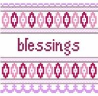 """6042 Blessings Needlepoint Canvas 5"""" x 5"""""""