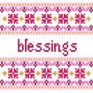"6043 Blessings Needlepoint Canvas 5"" x 5"""