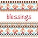 """6041 Blessings Needlepoint Canvas 5"""" x 5"""""""