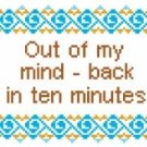 "6081 Sayings Needlepoint Canvas 6"" x 6"""