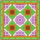 "6012 Geometric Needlepoint Canvas 7"" x 7"""
