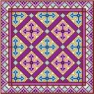 "6946 Geometric Needlepoint Canvas 7"" x 7"""