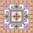 "6011 Geometric Needlepoint Canvas 7"" x 7"""