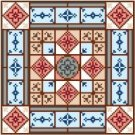 "6938 Geometric Needlepoint Canvas 7"" x 7"""