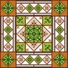 "6939 Geometric Needlepoint Canvas 7"" x 7"""