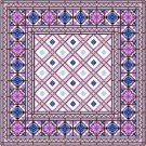 "6914 Geometric Needlepoint Canvas 14"" x 14"""