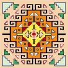 """6739 Southwest Needlepoint Canvas 14"""" x 14"""""""