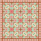 "6017 Geometric Needlepoint Canvas 14"" x 14"""