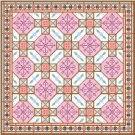 "6016 Geometric Needlepoint Canvas 14"" x 14"""