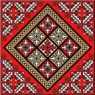 "6060 Geometric Needlepoint Canvas 14"" x 14"""