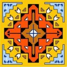 "6580 Southwest Needlepoint Canvas 14"" x 14"""