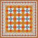 "6063 Geometric Needlepoint Canvas 14"" x 14"""