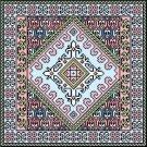 "6051 Geometric Needlepoint Canvas 14"" x 14"""