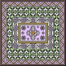 "6052 Geometric Needlepoint Canvas 14"" x 14"""