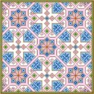 "6015 Geometric Needlepoint Canvas 14"" x 14"""