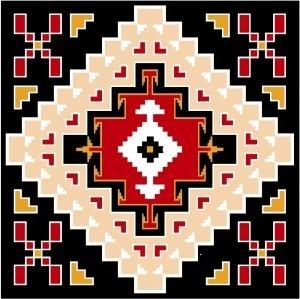 """6559 Southwest Needlepoint Canvas 14"""" x 14"""""""