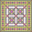 "6908 Geometric Needlepoint Canvas 14"" x 14"""