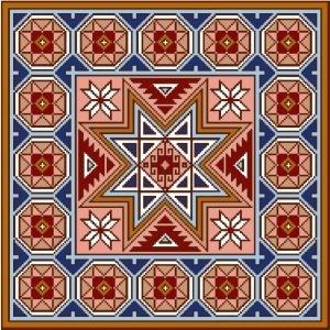"4148 Geometric Needlepoint Canvas 14"" x 14"""