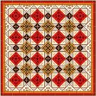 "6061 Geometric Needlepoint Canvas 14"" x 14"""