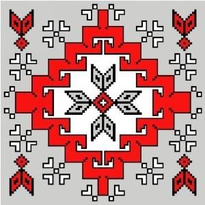 """6566 Southwest Needlepoint Canvas 14"""" x 14"""""""