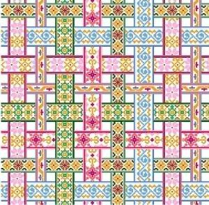 """6036 Ribbon Needlepoint Canvas 14"""" x 14"""""""