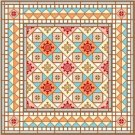"6062 Geometric Needlepoint Canvas 14"" x 14"""