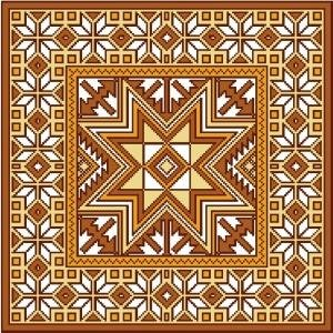 "4116 Geometric Needlepoint Canvas 14"" x 14"""