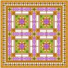 "6904 Geometric Needlepoint Canvas 14"" x 14"""