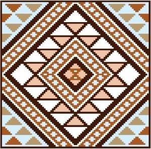 """6901 Southwest Needlepoint Canvas 14"""" x 14"""""""