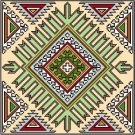 "6056 Geometric Needlepoint Design 14"" x 14"""