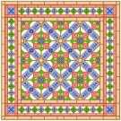 "6903 Geometric Needlepoint Canvas 14"" x 14"""