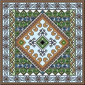 "6059 Geometric Needlepoint Canvas 14"" x 14"""