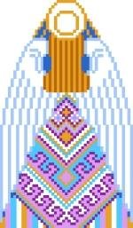 2031B Christmas Angel Needlepoint Canvas (back)