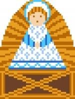 2029F Christmas Nativity Jesus Needlepoint Canvas