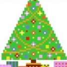 2017 Christmas Tree Ornament Needlepoint Canvas