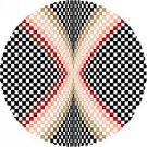 6909 Optical Geometric Needlepoint Canvas
