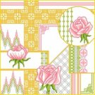 6894 Roses Floral Needlepoint Canvas