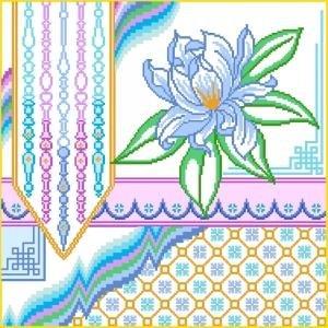 6922 Floral Needlepoint Canvas