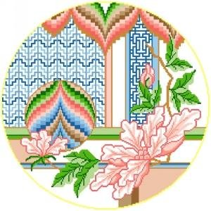 6884 Floral Needlepoint Canvas