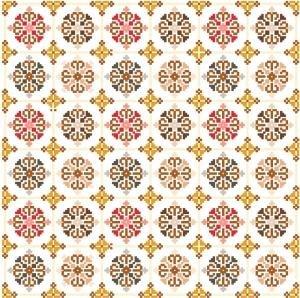 "6028 Geometric Needlepoint Canvas 12"" x 12"""