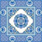 "4235 Oriental Needlepoint Canvas 17"" x 17"""