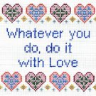 6221 Love Saying Needlepoint Canvas