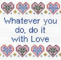 6221 Love Saying Needlepoint Canvas
