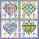 6215 Hearts Needlepoint Canvas