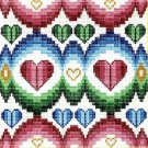 6214 Hearts Needlepoint Canvas
