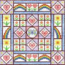 6291 Rainbow Hearts Needlepoint Canvas
