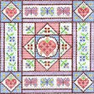 6290 Butterfly Hearts Needlepoint Canvas