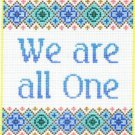 7123 We Are All One Needlepoint Canvas