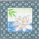 6282 Zen Lotus Needlepoint Canvas